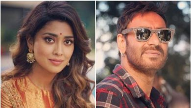Photo of Ajay Devgn and Shriya Saran reunite after Drishyam for SS Rajamouli's RRR