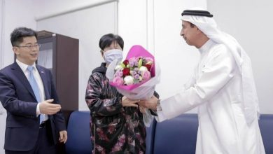 Photo of Chinese woman fully recovers from Coronavirus in UAE