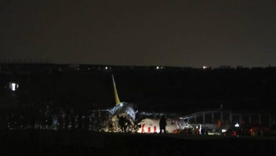 Photo of Plane skids off Istanbul runway, breaks into pieces
