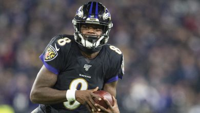 Photo of Lamar Jackson's Madden NFL 21 cover, unveiled