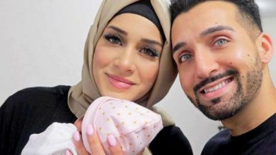Photo of Pakistan origin popular You tubers Sham Idrees and wife Seher celebrate birth of baby girl