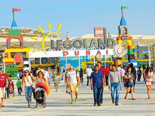 Visitors at Logoland at Dubai Parks and Resorts