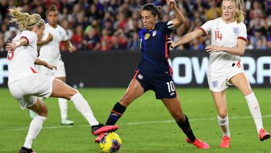 Photo of USWNT vs England: Lloyd, Press score in 2-0 SheBelieves Cup win