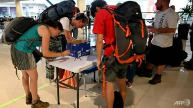 Photo of European tourists evacuated from Bali after flights cancelled