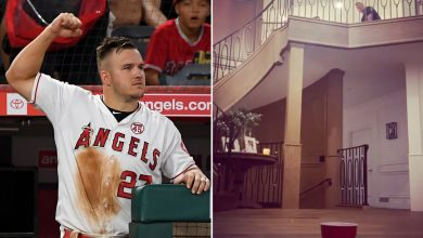 Photo of Angels' Mike Trout makes golf trick shot in his house (video)