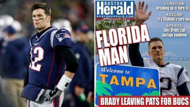 Photo of Tom Brady leaving Patriots: New England newspapers react