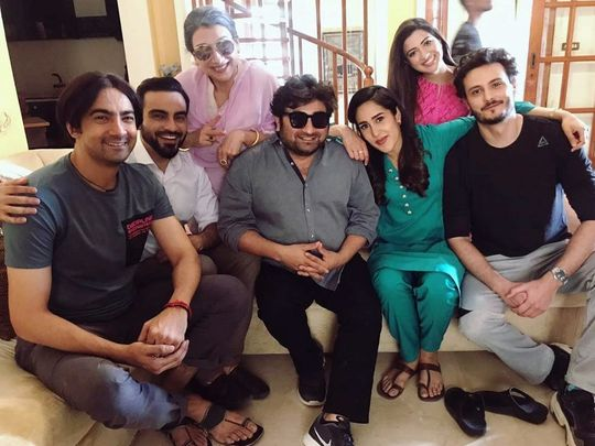 Mira Sethi with director Danish Nawaz, Osman Khalid Butt, Ali Safina Aslan Naseer and others-1586163641942