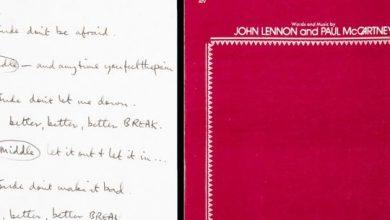 Photo of Handwritten 'Hey Jude' lyrics sell for $910,000