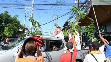 Photo of Drive-by blessings in virus-hit Philippines