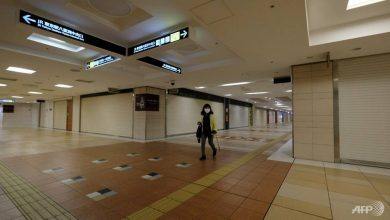 Photo of Trains full on first day of Japan's COVID-19 emergency, but some shops shut