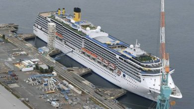 Photo of 34 crew have coronavirus on cruise ship docked for repairs in Japan