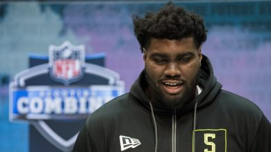 Photo of Projected first-round NFL draft pick Mekhi Becton's drug test flagged