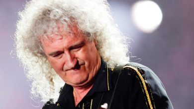 Photo of Queen lead guitarist Brian May hospitalised
