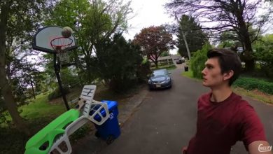 Photo of Watch a 70-step basketball shot that took two months of planning