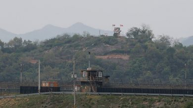 Photo of North and South Korea exchange fire over heavily guarded border