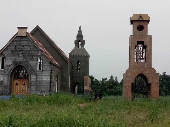 Minnal Murali church kerala kalady