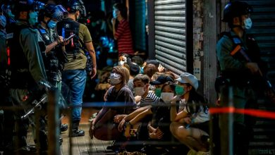 Photo of Hong Kong police arrest more than 200 as protests return