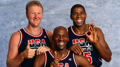 Photo of Michael Jordan and the Dream Team tapes
