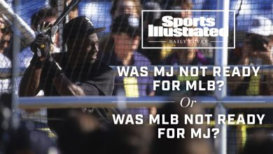 Photo of Michael Jordan and baseball should have made sense together