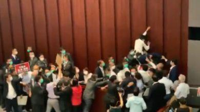 Photo of Pro-Beijing lawmakers, democrats clash in Hong Kong legislature