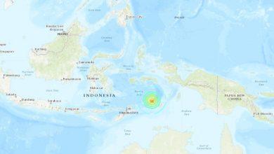 Photo of 6.9-magnitude earthquake strikes Banda Sea, off Indonesia