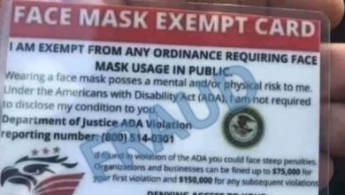 Photo of Mask Exemption Cards From the 'Freedom to Breathe Agency'? They're Fake