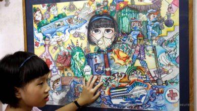Photo of Vietnam schoolgirl creates art from the chaos of COVID-19