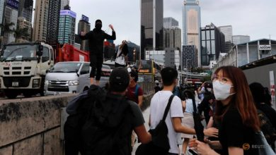 Photo of Tensions simmer in Hong Kong as controversial anthem law back up for debate