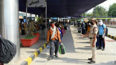 Photo of Long queues as Indian train services resume