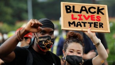 Photo of Black Lives Matter protesters march through Tokyo