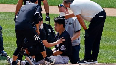 Photo of Masahiro Tanaka Hospitalized After Being Hit by Line Drive