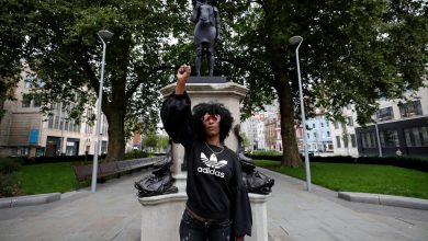 Photo of Statue of Black Protester Is Raised in Place of Bristol Slave Trader