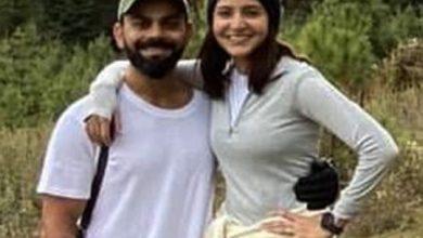 Photo of Indian cricketer Virat Kohli 'grateful' for wife, Bollywood actress Anushka Sharma