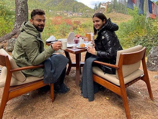 Virat Kohli and Anushka Sharma in Bhutan