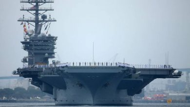 Photo of US Navy carriers conduct South China Sea drills as Chinese ships watch