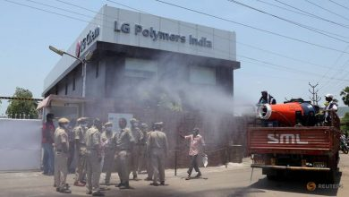 Photo of Indian police arrest 12 officials of LG Polymers over blast