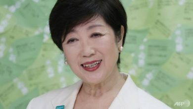 Photo of Tokyo governor Koike cruises to second term