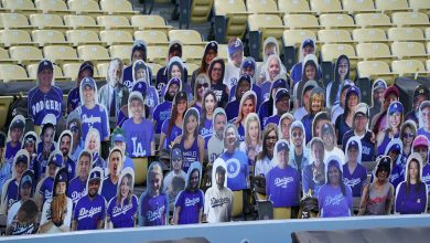 Photo of MLB cutouts fill stands with fans and celebrities on Opening Day