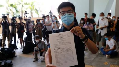 Photo of Democracy activist Joshua Wong launches bid for Hong Kong legislature