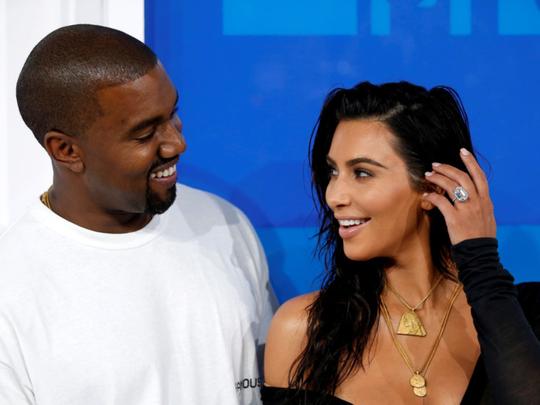 tab Kim and Kanye West