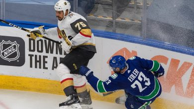 Photo of After Leading N.H.L. Play Stoppage, Golden Knights and Canucks Redraw Swords