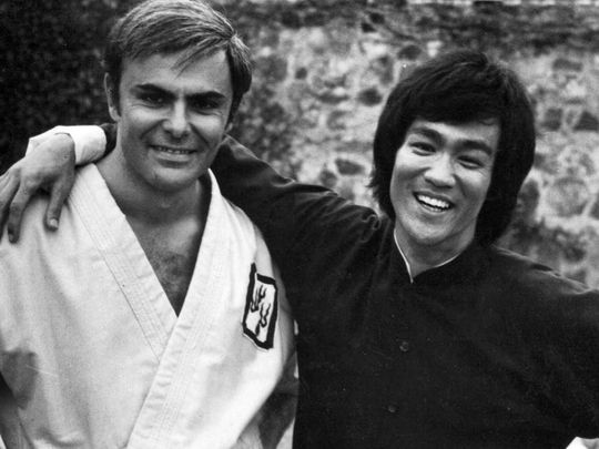 John Saxon and Bruce Lee - credit Peter Shinkonda-1595829829722