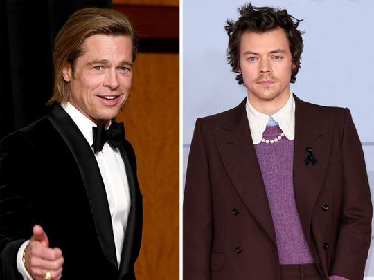 TAB 200820 Brad Pitt and Harry Styles