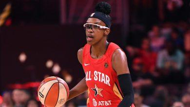 Photo of WNBA bubble: Azura Stevens, Diamond DeShields of Chicago Sky leave