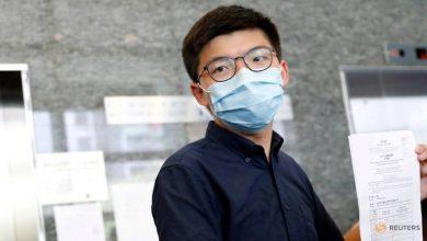 Photo of Joshua Wong and other Hong Kong activists charged over banned Jun 4 vigil