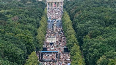 Photo of Thousands March Against Virus Measures in Berlin
