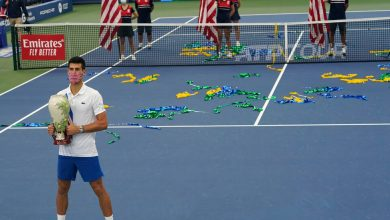 Photo of Amid Tennis's Swirling Storms, a Stubborn Djokovic Claims a Title