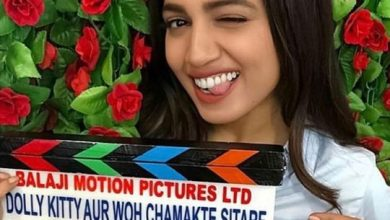 Photo of Bhumi Pednekar enjoys 'Dolly Kitty Aur Woh Chamakte Sitare' at her house