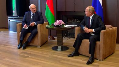 Photo of Embattled Belarus Strongman Travels to Russia to Seek Help From Putin