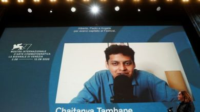 Photo of Indian director Chaitanya Tamhane on his Venice film festival win for 'The Disciple'